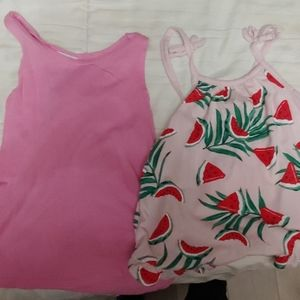 2 tank tops size and 5T &4T